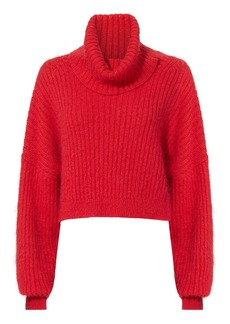 3.1 Phillip Lim Oversized Red Mohair Turtleneck