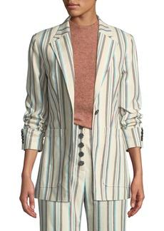 3.1 Phillip Lim Oversized Striped Cotton Blazer