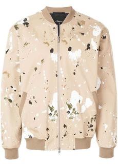 3.1 Phillip Lim paint-effect bomber jacket