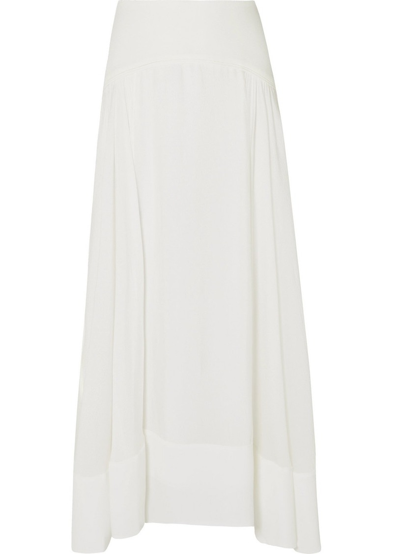 3.1 Phillip Lim Paneled Silk Crepe De Chine Maxi Skirt