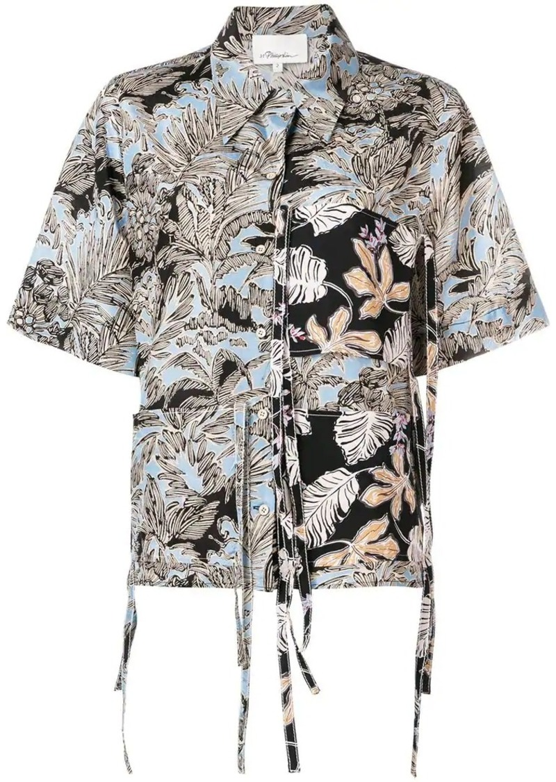 3.1 Phillip Lim patchwork Camp shirt