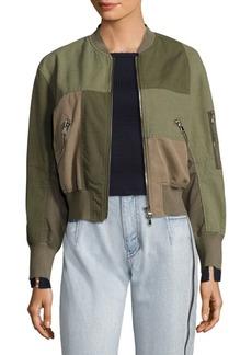 3.1 Phillip Lim Patchwork Cotton Bomber Jacket