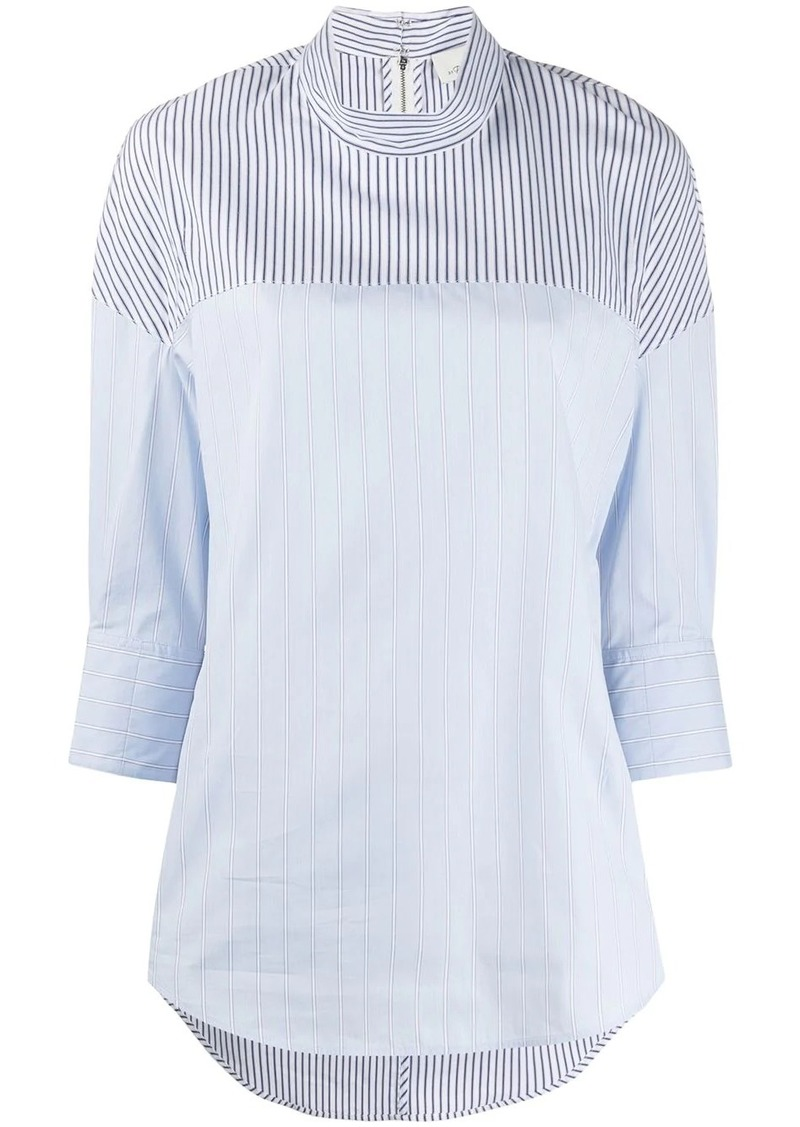 3.1 Phillip Lim patchwork pinstripe blouse