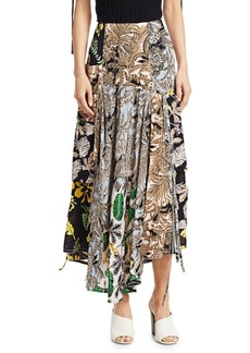 3.1 Phillip Lim Patchwork Print Silk Skirt