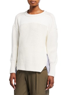 3.1 Phillip Lim Patchwork Woven Combo Sweater