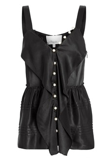 3.1 Phillip Lim Pearl-Embellished Satin Camisole