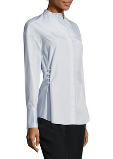 3.1 Phillip Lim Pearly Cotton Poplin Blouse