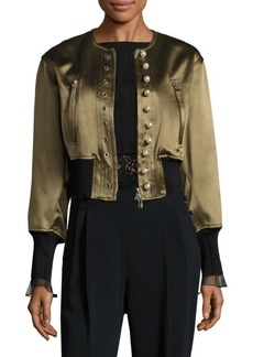 3.1 Phillip Lim Pearly Cropped Bomber Jacket