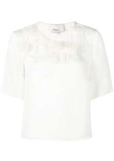 3.1 Phillip Lim peony embroidered T-shirt