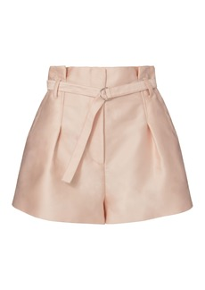 3.1 Phillip Lim Origami Pleated Satin Shorts