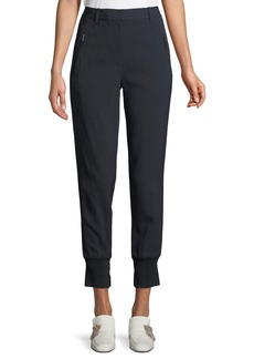3.1 Phillip Lim Pinstripe Cotton Jogger Pants