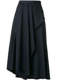 3.1 Phillip Lim Pinstripe side ruffle skirt