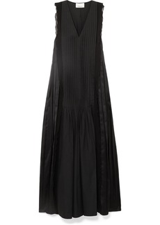 3.1 Phillip Lim Pintucked Paneled Cotton Maxi Dress