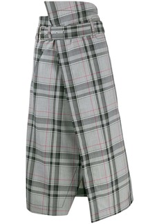 3.1 Phillip Lim Plaid Belted Skirt