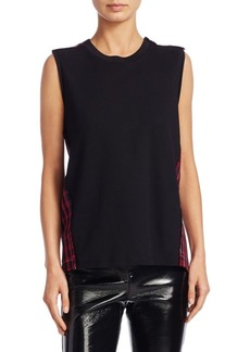 3.1 Phillip Lim Plaid Silk Tank Top