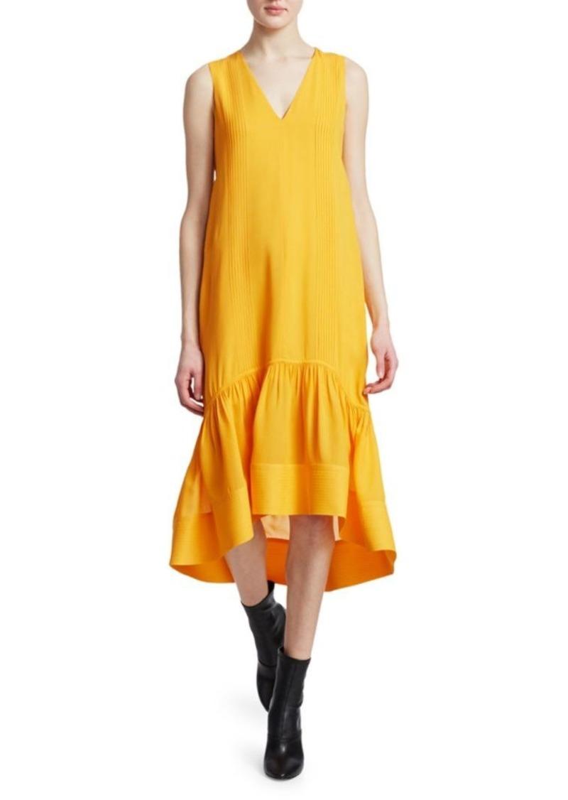 3.1 Phillip Lim Pleat Detail Flounce Hem Midi Dress