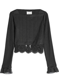 3.1 Phillip Lim Pleated Blouse with Lace