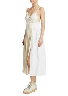 3.1 Phillip Lim Pleated Cotton Cami Dress