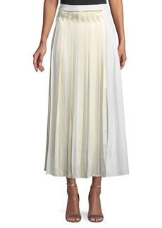3.1 Phillip Lim Pleated Cotton Poplin Maxi Skirt
