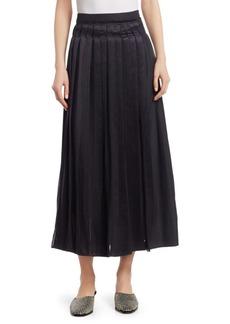 3.1 Phillip Lim Pleated Poplin Midi Skirt