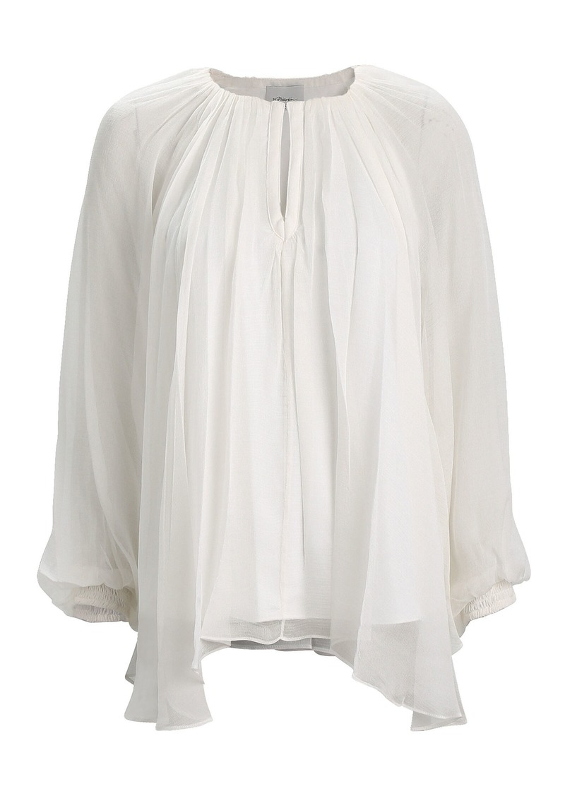 3.1 Phillip Lim Pleated Silk Chiffon Blouse