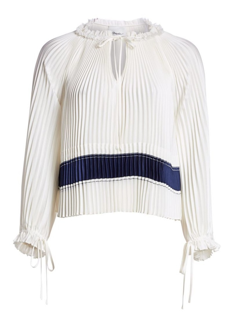 3.1 Phillip Lim Pleated Tie Blouse
