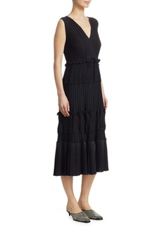 3.1 Phillip Lim Pleated Tiered Ruffle Dress