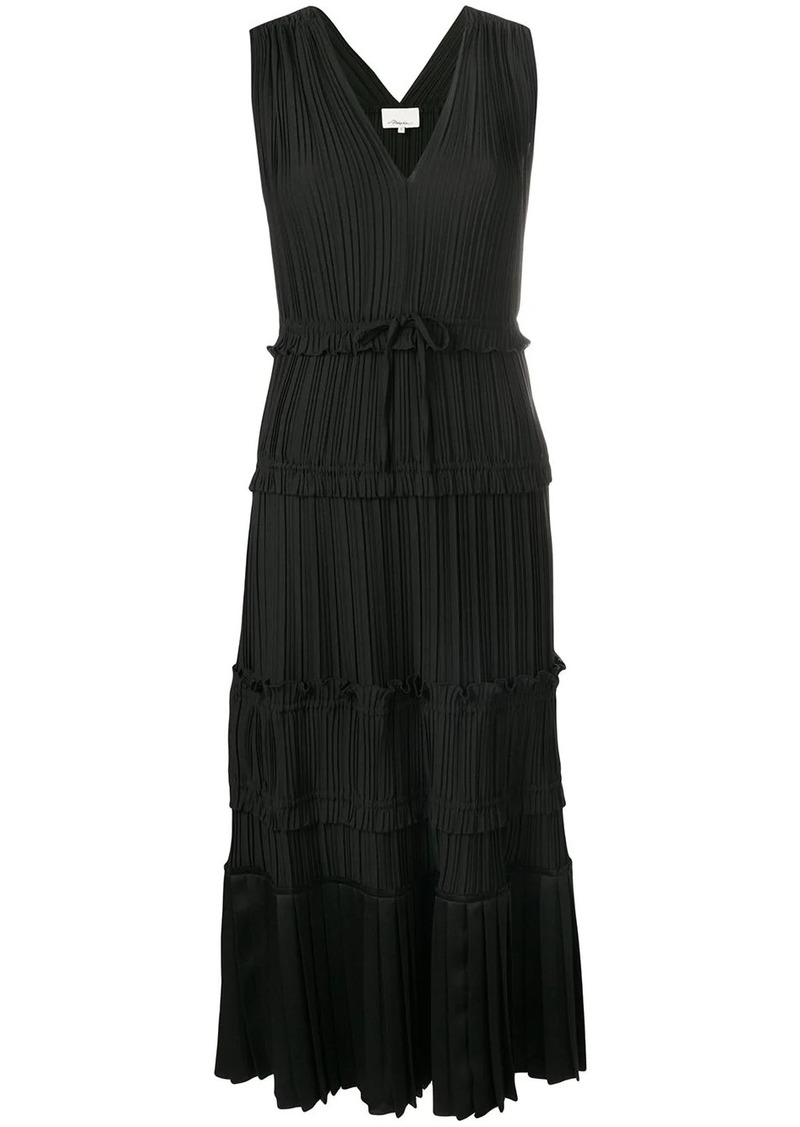 3.1 Phillip Lim Pleated V-Neck Dress