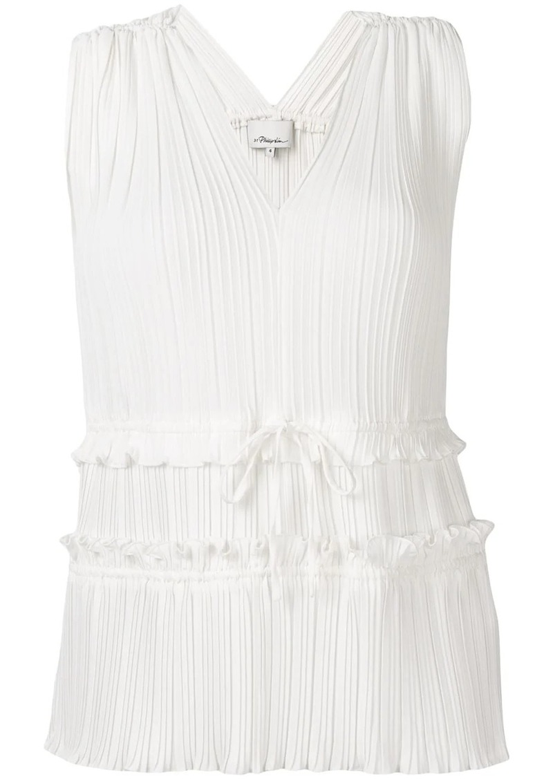 3.1 Phillip Lim Pleated V-Neck Tank Top