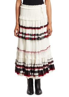 3.1 Phillip Lim Pleated Striped Midi Skirt