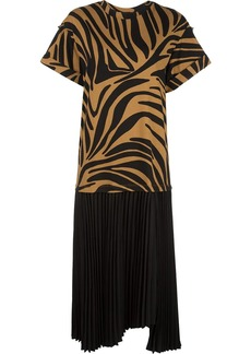 3.1 Phillip Lim pleated zebra print T-Shirt dress
