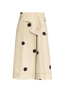 3.1 Phillip Lim Polka Dot Silk Midi Skirt