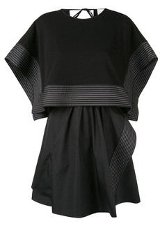 3.1 Phillip Lim Poplin Crop Top Overlay Dress