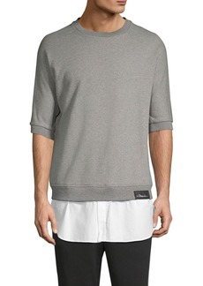 3.1 Phillip Lim Poplin Tail Sweatshirt