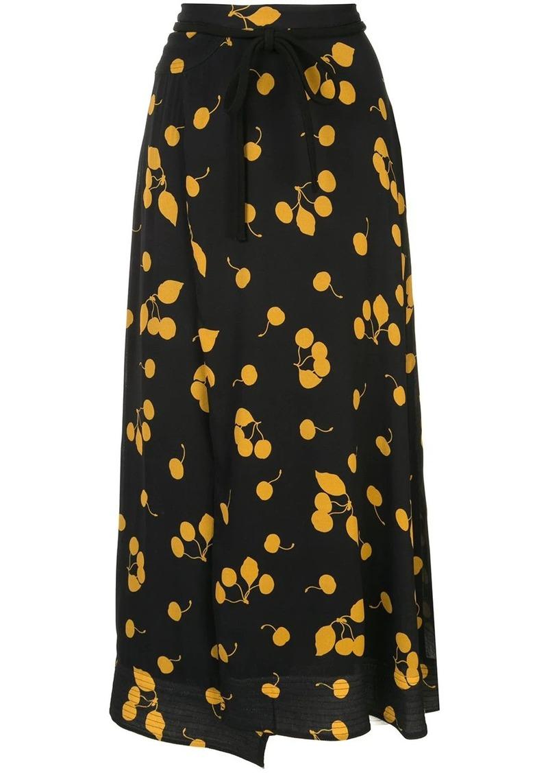 3.1 Phillip Lim Printed Cerise Skirt