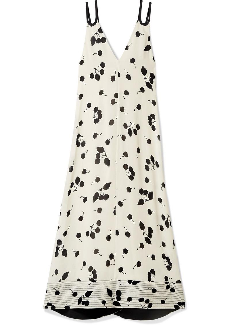 3.1 Phillip Lim Printed Crepe De Chine Maxi Dress