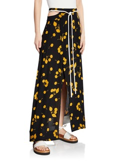 3.1 Phillip Lim Printed Maxi Skirt with Cutout