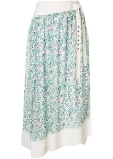 3.1 Phillip Lim Printed Shirred Skirt