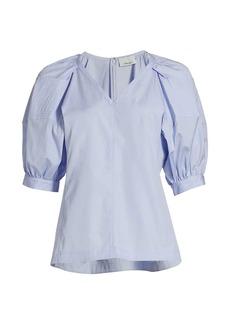 3.1 Phillip Lim Puff-Sleeve Cotton Blouse