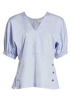 3.1 Phillip Lim Puff-Sleeve Side Snap Top