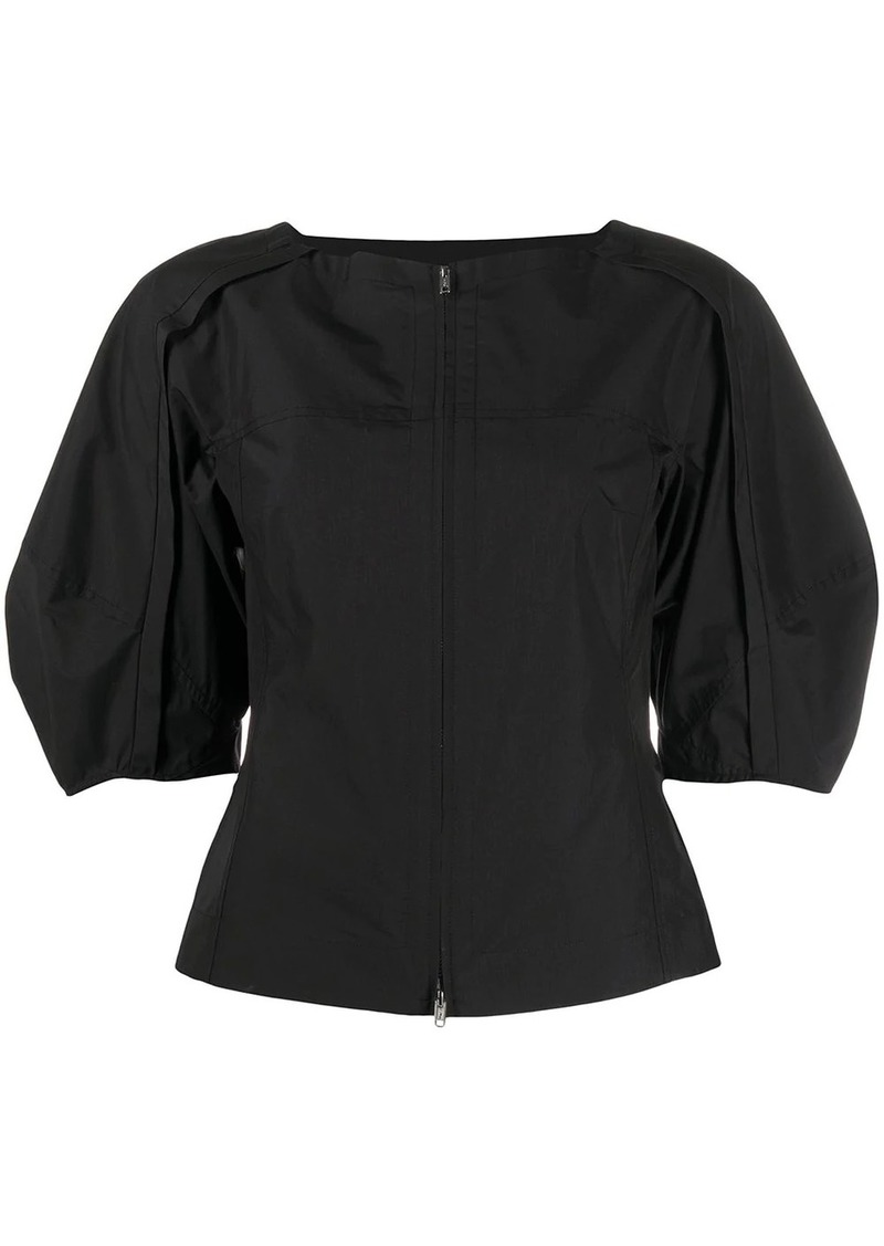 3.1 Phillip Lim puff-sleeve zipped blouse