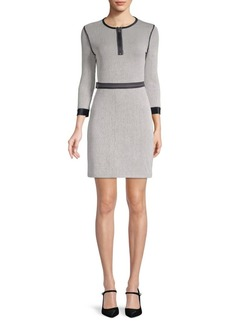 3.1 Phillip Lim Quarter-Sleeve Striped Sheath Dress