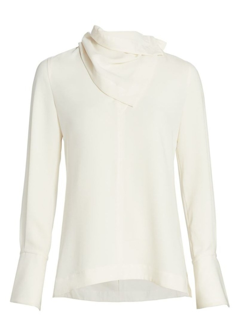 3.1 Phillip Lim Removable-Scarf Crepe Blouse