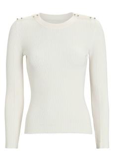 3.1 Phillip Lim Rib Knit Crewneck Sweater