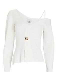 3.1 Phillip Lim Rib Knit One-Shoulder Sweater