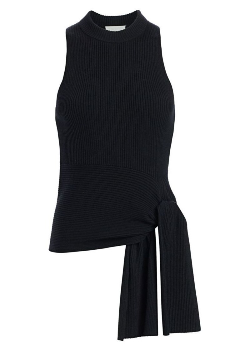 3.1 Phillip Lim Rib-Knit Sleeveless Wool-Blend Pullover
