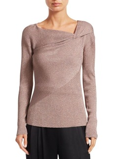 3.1 Phillip Lim Ribbed Lurex Pullover Sweater