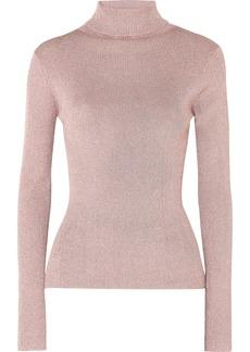 3.1 Phillip Lim Ribbed Lurex Turtleneck Sweater