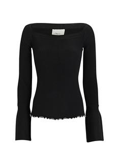 3.1 Phillip Lim Ribbed Square Neck Sweater