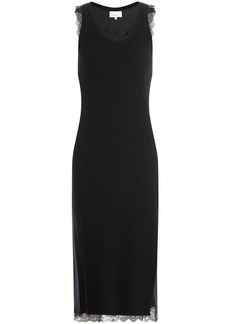 3.1 Phillip Lim Ribbed Wool-Blend Dress with Lace